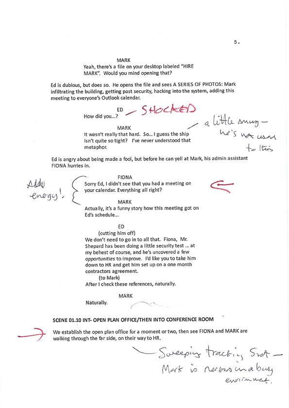 Inside Man S1 script scans 3