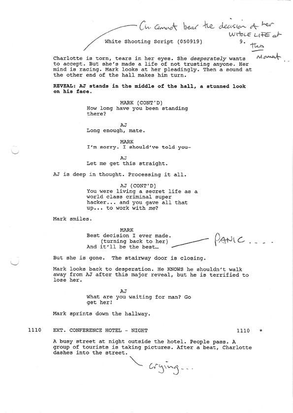 Inside Man S2 script scans 1