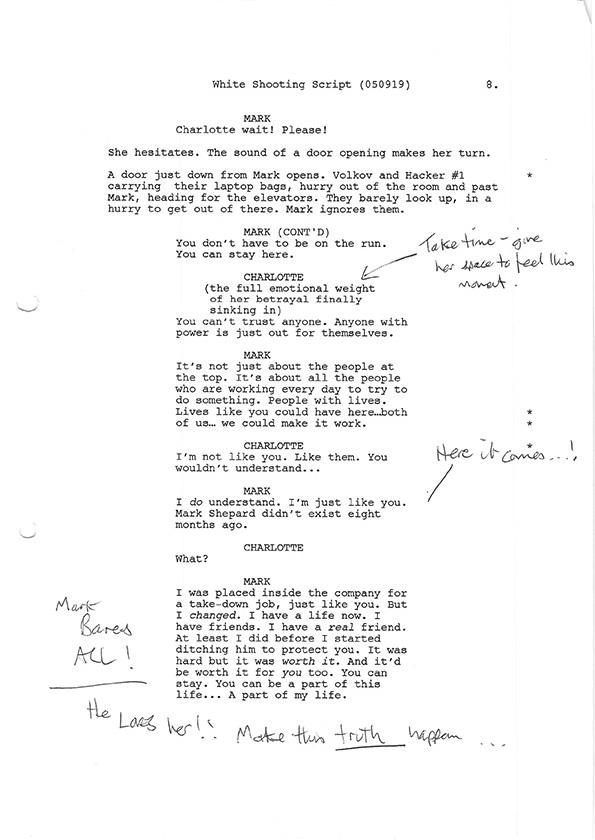 Inside Man S1 script scans 2